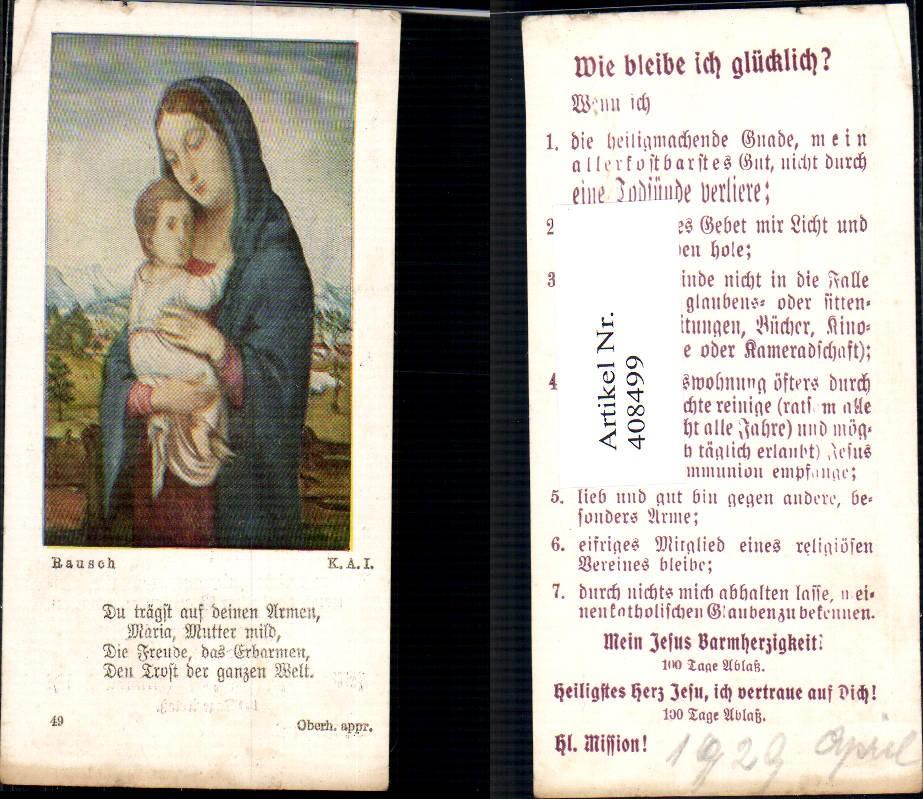 408499,Andachtsbild Heiligenbildchen Rausch Mutter Maria Jesuskind - <span itemprop=availableAtOrFrom>Wallsee, Österreich</span> - - Beginn der Widerrufsbelehrung - Widerrufsbelehrung: Der Käufer, der Verbraucher im Sinne des Konsumentenschutzgesetzes ist, hat das Recht, seine Bestellung innerhalb von 14 Tagen nach Ein - Wallsee, Österreich