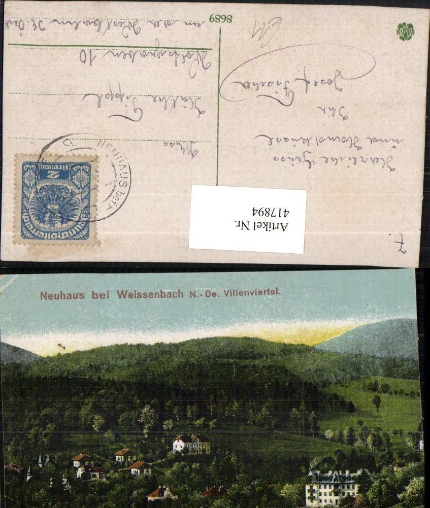 417894,Neuhaus B. Weissenbach Villenviertel Ansichtskarten
