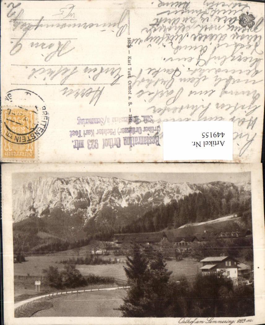 449155,Orthof Am Semmering Häuser Bergkulisse