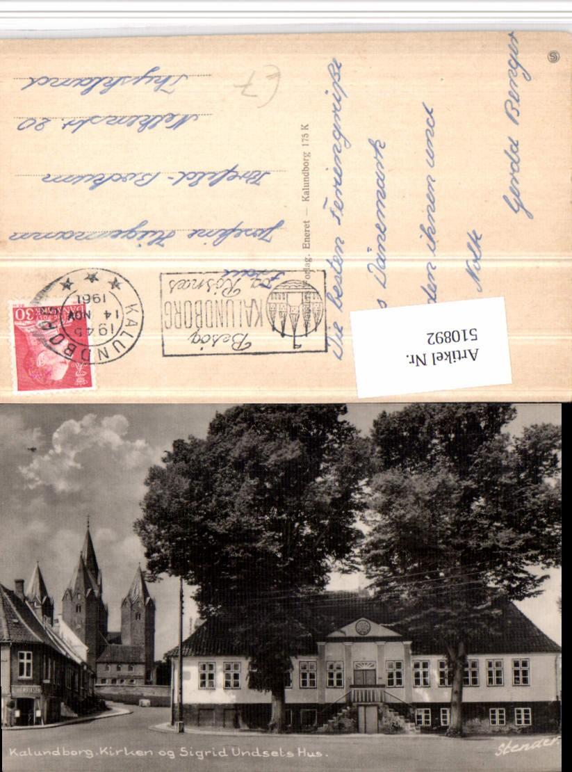 510892 denmark kalundborg kirken og sigrid undsets hus kirche haus ansichtskarten europa. Black Bedroom Furniture Sets. Home Design Ideas