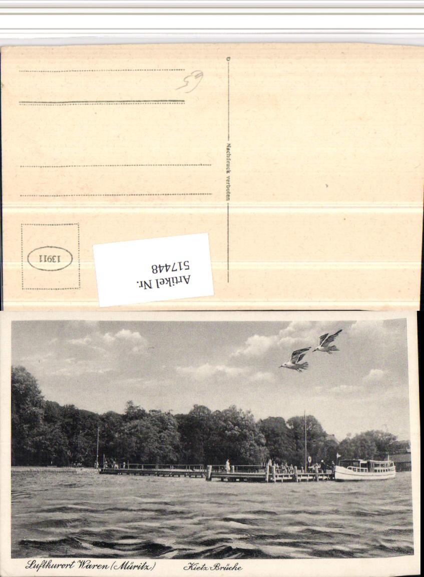 517448 waren an d m ritz kietz br cke m wen ansichtskarten deutschland mecklenburg vorpommern. Black Bedroom Furniture Sets. Home Design Ideas