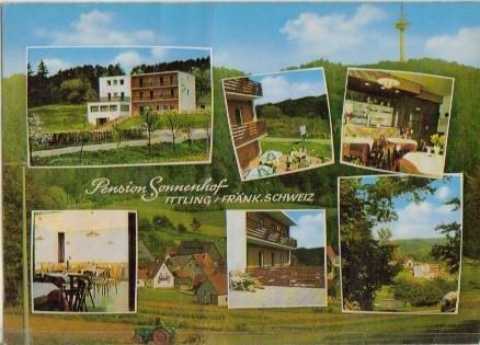 2595 pension sonnenhof in ittling bei simmelsdorf farbe ansichtskarten deutschland. Black Bedroom Furniture Sets. Home Design Ideas