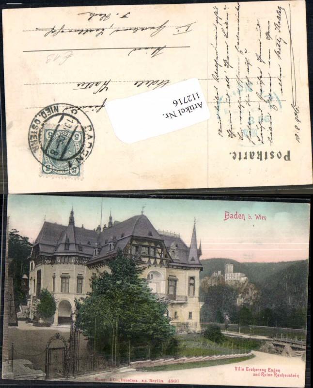 112716,Baden Bei Wien Villa Erzherzog Eugen Helenental
