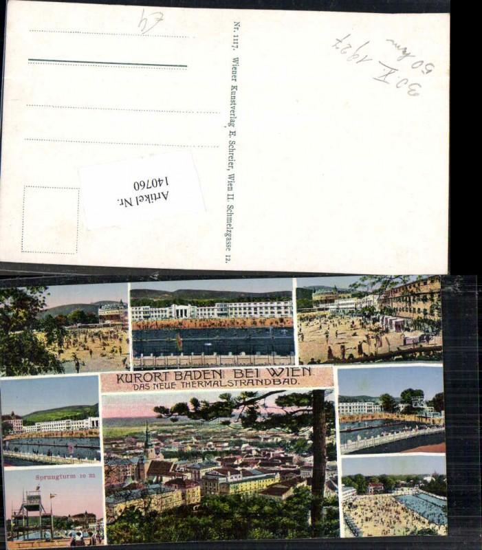 140760,Baden Bei Wien Ansichtskarten Österreich