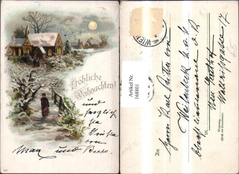 168801 weihnachten schneelandschaft frau weg kirche ebay. Black Bedroom Furniture Sets. Home Design Ideas