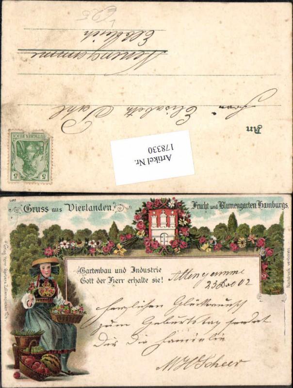 178330 litho gruss aus vierlanden neuengamme gartenbau for Gartenbau hamburg