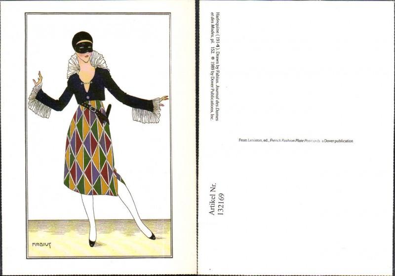 132169,Repro Jugendstil Fabius Harlequine Harlekin Kostüm ...