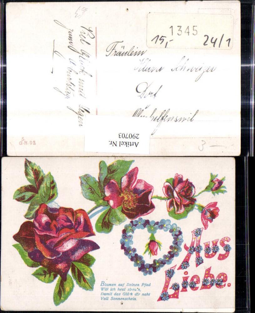 290703 aus liebe blumen auf deinen pfad rosen herz - Blumen zitate ...
