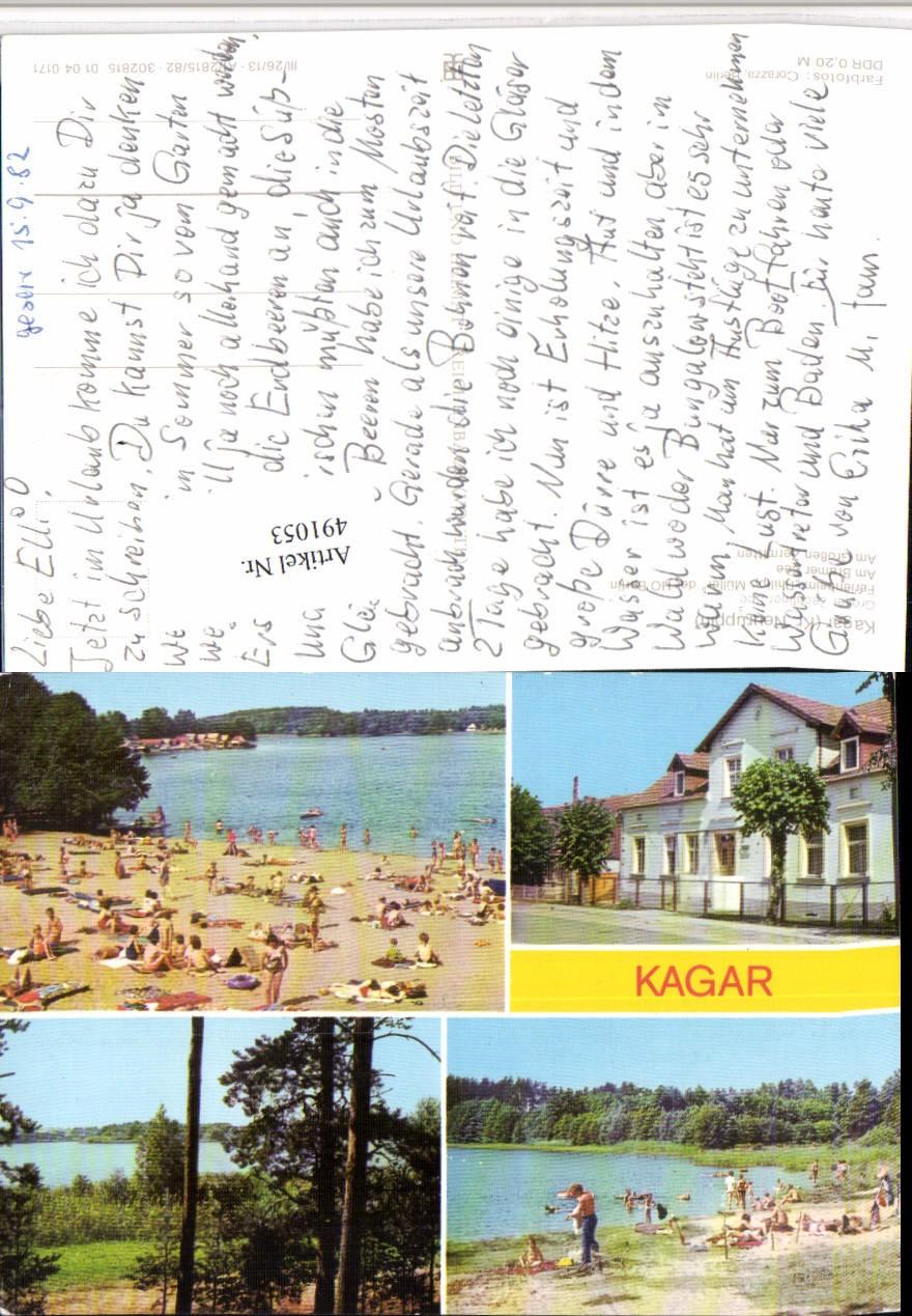 491053 kagar b rheinsberg strandbad seen mehrbildkarte pub veb ansichtskarten deutschland. Black Bedroom Furniture Sets. Home Design Ideas