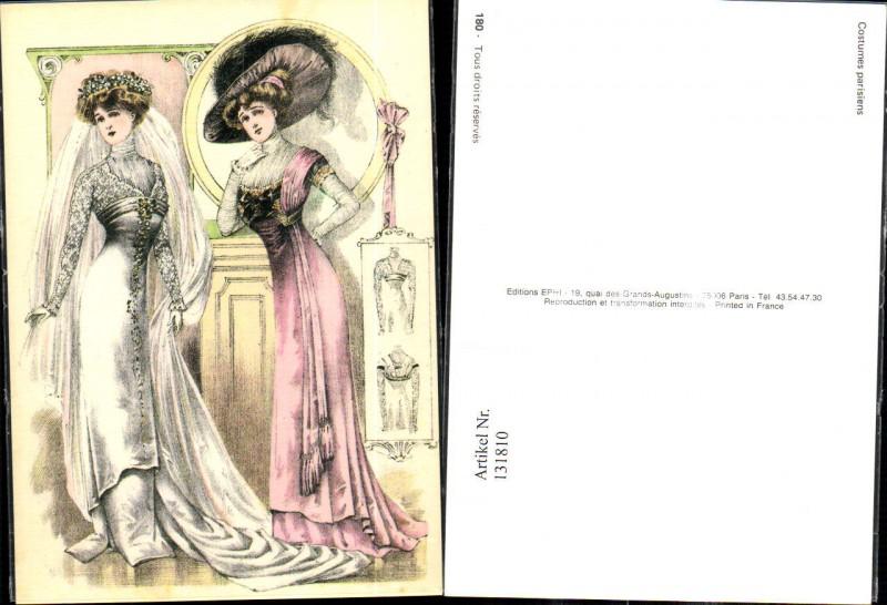 131810,Repro Jugendstil Costumes Parisiens Pariser Mode Frauen ...