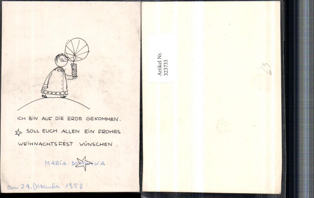 323733 k nstlerkarte spruch zitat weihnachten kind m. Black Bedroom Furniture Sets. Home Design Ideas