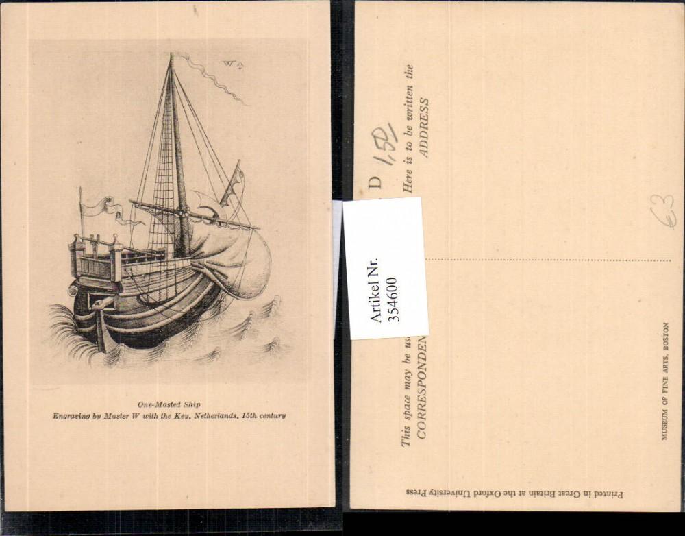 Segelschiff bleistiftzeichnung  354600,Künstler Ak Bleistiftzeichnung Master W One-Masted Ship ...